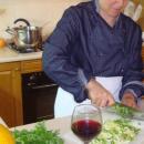 Preparazione insalata sedano e finocchio